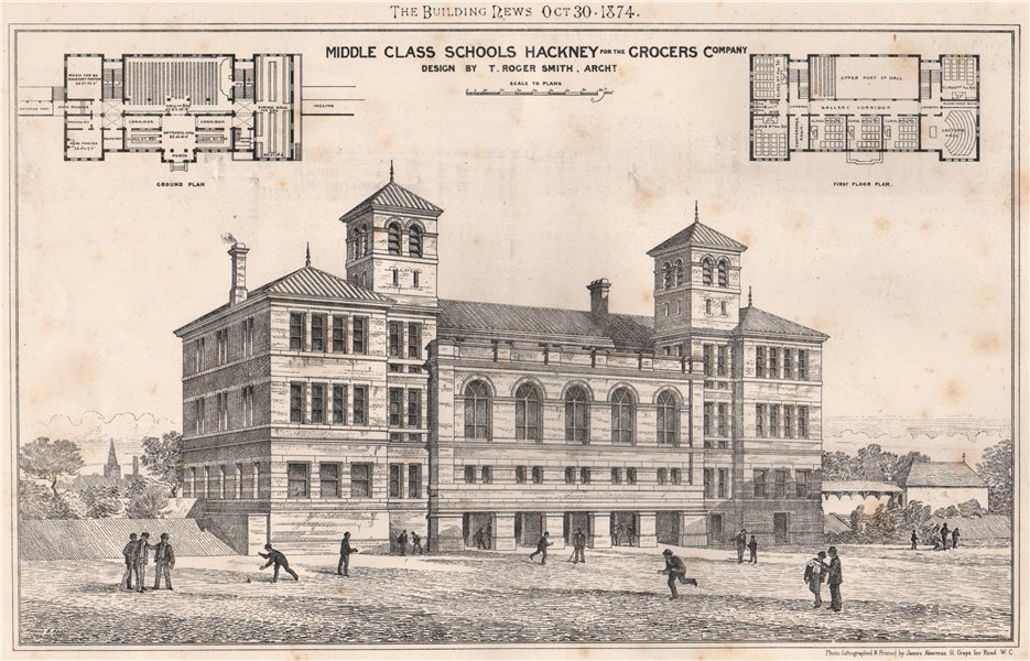 Associate Product Middle class schools, Hackney, for the Grocers Company; T Roger Smith Archt 1874