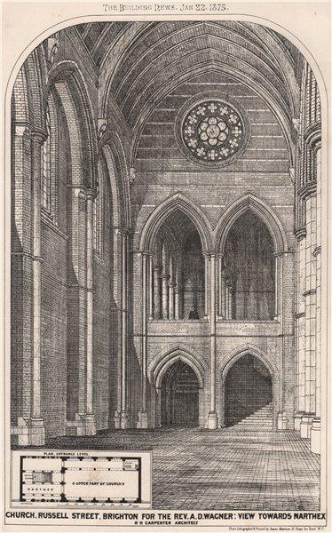 Associate Product Russell Street church, Brighton. Rev Wagner. To narthex; RH Carpenter 1875
