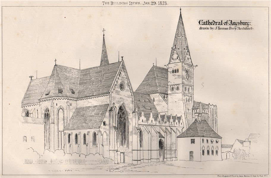 Associate Product Cathedral of Augsburg; Drawn by J. Tavenor Perry, Architect. Bavaria 1875