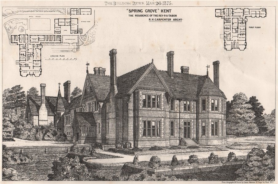 "Associate Product ""Spring Grove"", Kent,  for the Rev. R.S. Tabor; R.H. Carpenter Architect 1875"