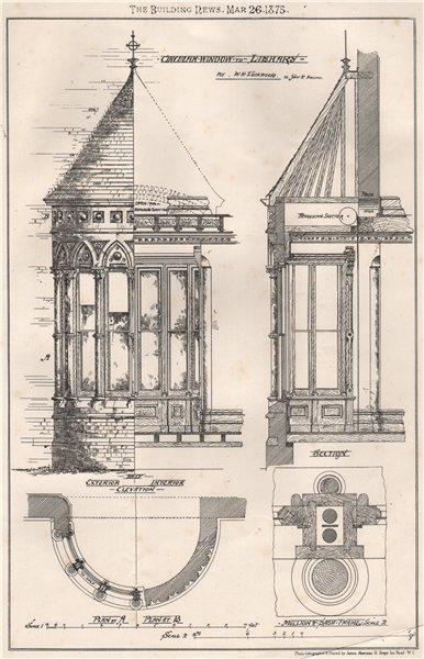 Associate Product Circular window to library; by W.H. Lockwood 10 John St. Adelphe 1875 print