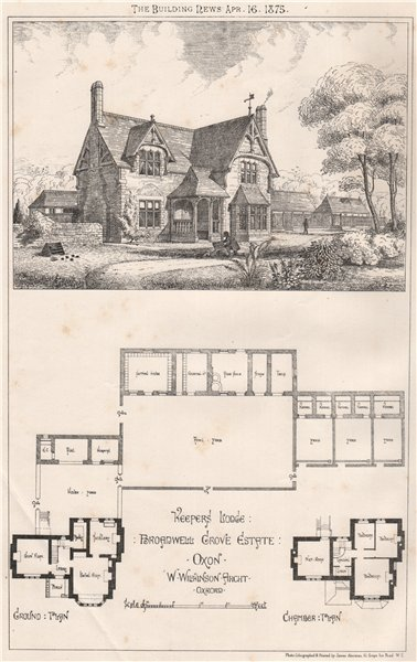 Associate Product Keepers lodge, Broadwell Grove Estate, Oxfordshire; W. Wilkinson Architect 1875