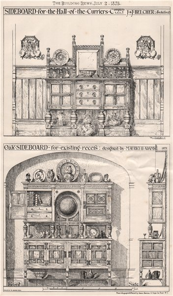 Sideboard, Curriers Company Hall; J. & J. Belcher Archts; Maurice Adams 1875