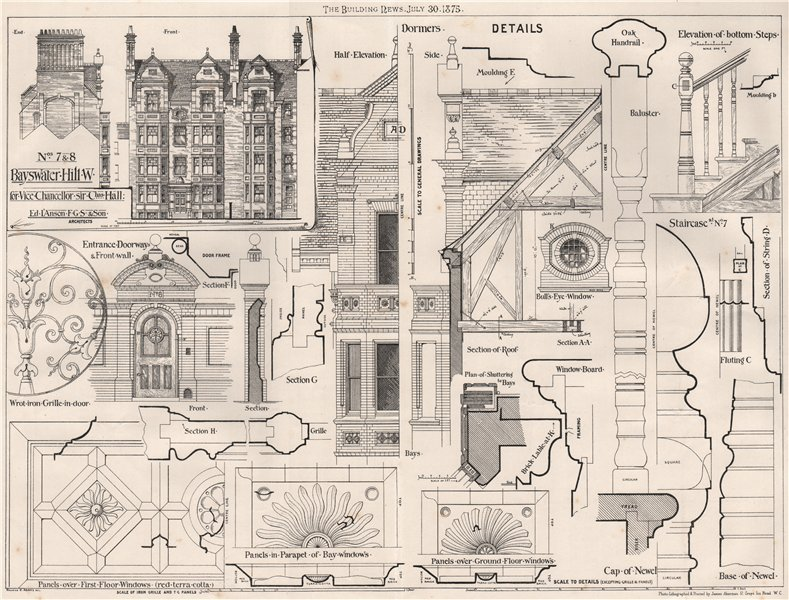 Associate Product 7 & 8 Bayswater Hill, for Sir. Chas. Hall; Ed. I'Anson & Son Architects 1875