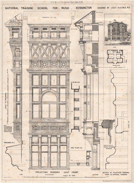 National Training School for Music, Kensington; by Lieut H.H. Cole R.E. 1875