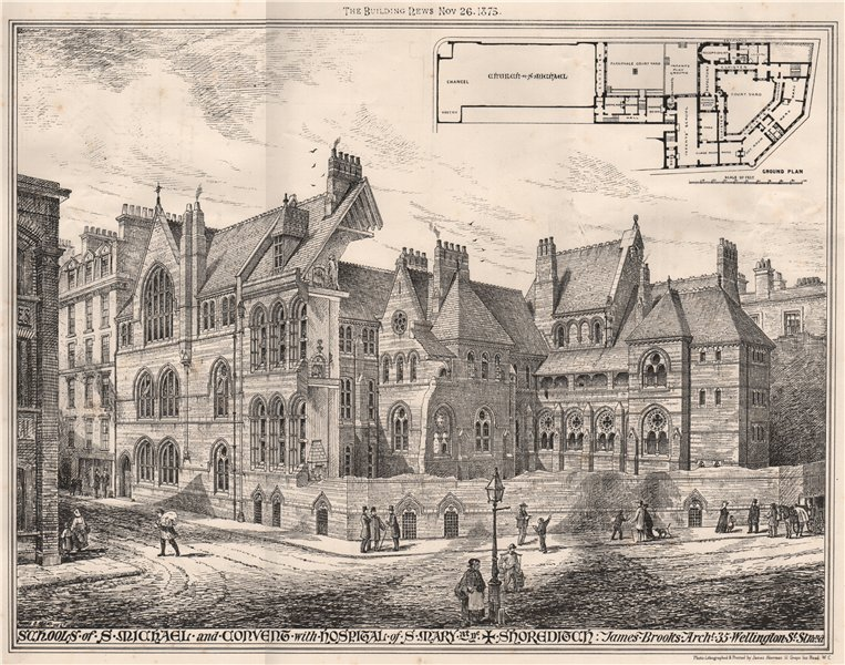 Associate Product Schools of St Michael & Convent with Hospital of St. Mary at ne, Shoreditch 1875