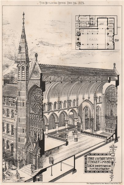 Associate Product Church of the English Martyrs, Great Prescot St, Tower Hill, London; Pugin 1875