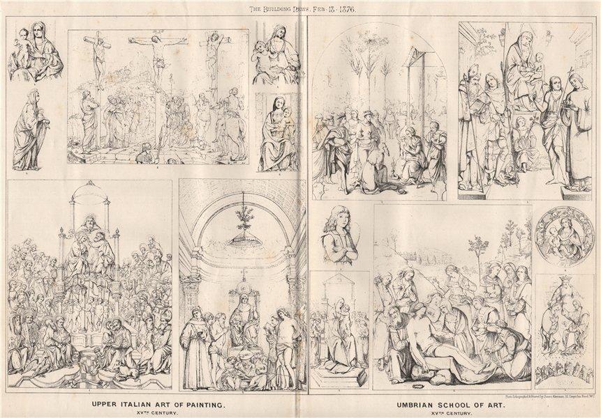 Associate Product Upper Italian art of painting 15C; Umbrian school of art 15th Century 1876