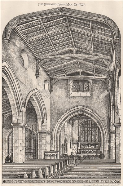 Associate Product Church of St Mary & St Nicholas Beaumaris Anglesey; planned restoration 1876