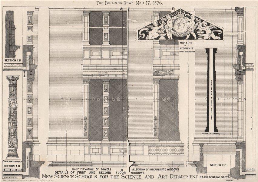 Science School for the Science & Art Department, South Ken; Maj-Gen Scott 1876