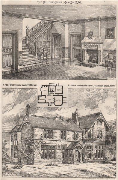 Associate Product Coldhigham Rectory, Hampshire; exterior & interior. S.J. Newman Architect 1876