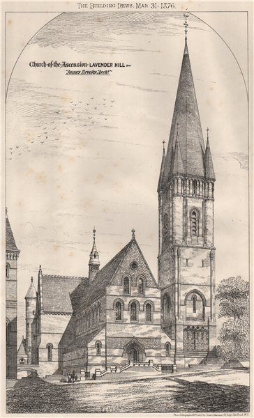 Associate Product Church of the Ascension, Lavender Hill; James Brooks, Architect. Clapham 1876