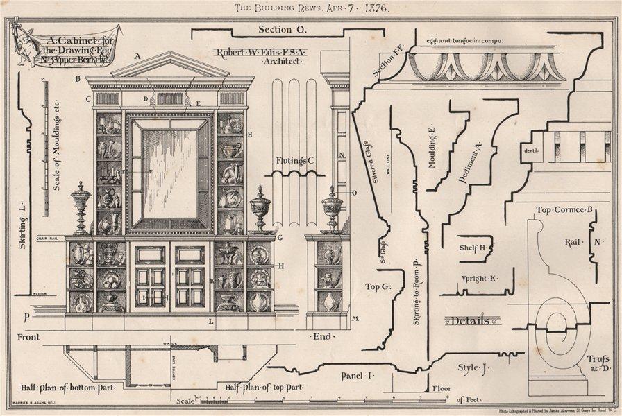 Associate Product A drawing room cabinet, 3, Upper Berkeley St; Robert W. Edis Architect 1876