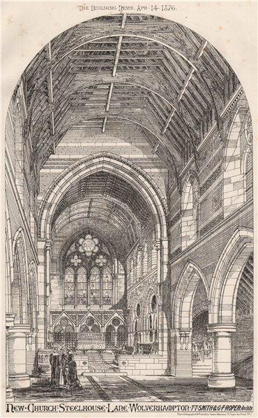 Associate Product Steelhouse Lane church, Wolverhampton; Smith & Roper Archts. Staffordshire 1876
