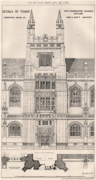Associate Product New Examination Schools, Oxford; design by John O. Scott Archt. Oxfordshire 1876