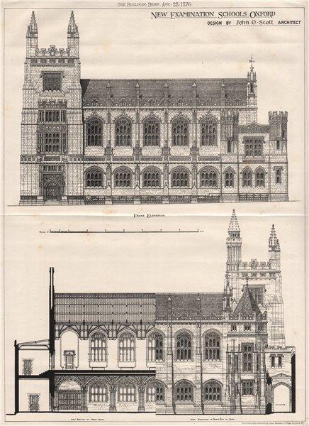 New Examination School, Oxford; Design by John O. Scott Archt. Oxfordshire 1876