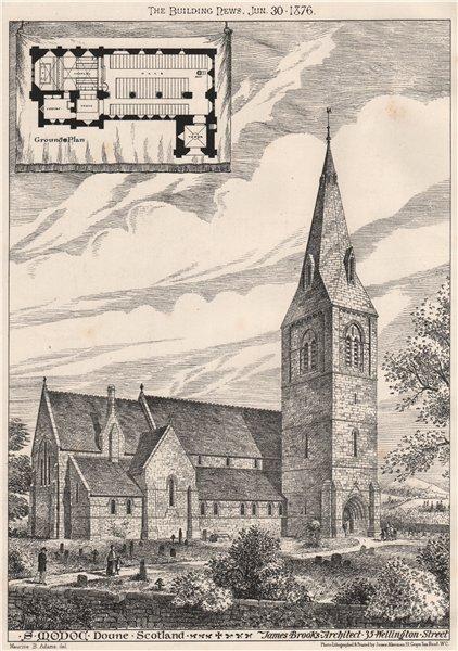 Associate Product S. Modoc, Doune, Scotland; James Brooks, Architect 1876 old antique print