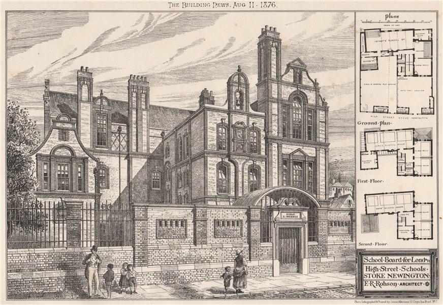 Associate Product School Board for London, High Street Schools, Stoke Newington; E.R. Robson 1876