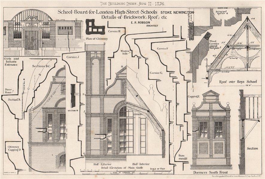 Associate Product School Board for London High Street Schools, Stoke Newington. ER Robson 1876