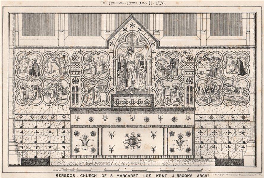 Associate Product Reredos, church of St. Margaret, Lee, Kent. J. Brooks, Architect. London 1876