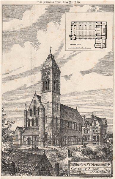 Associate Product Wilberforce Memorial Church of St. Luke, Camberwell SE.; JEK Cutts Archt 1876