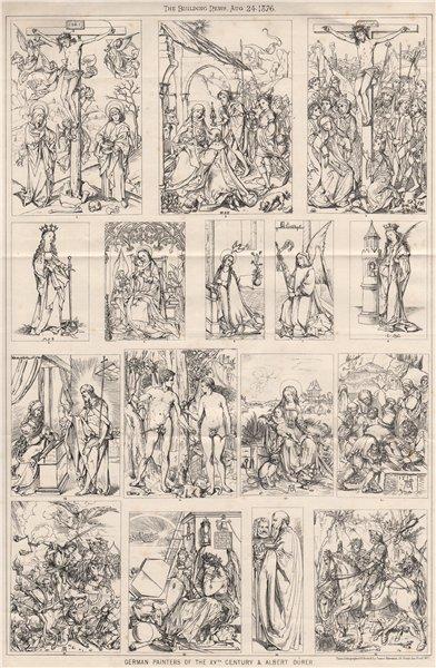 Associate Product German painters of the XVth. century & Albert Durer. Germany 1876 old print