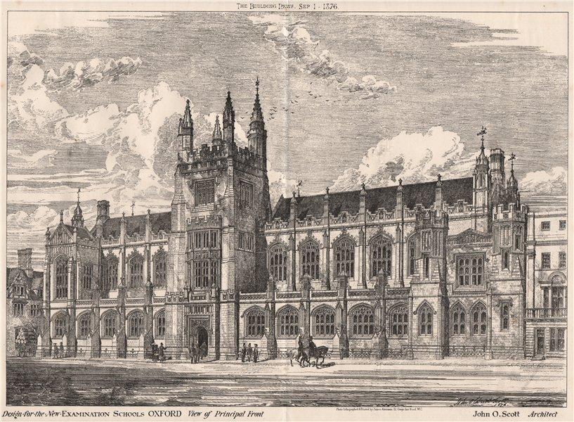 Associate Product New examination schools, Oxford. principal front; John Scott, Architect 1876