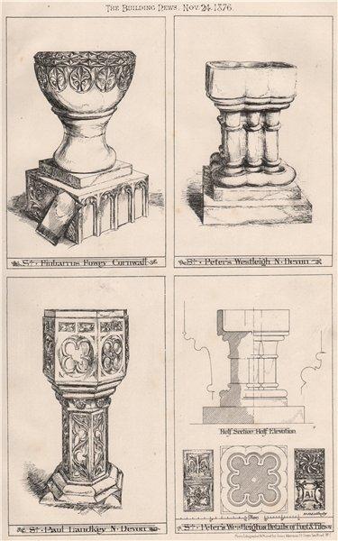 Associate Product St Finbarrus, Fowey, Cornwall; St Peter, Westleigh, Devon; St Paul, Landkey 1876