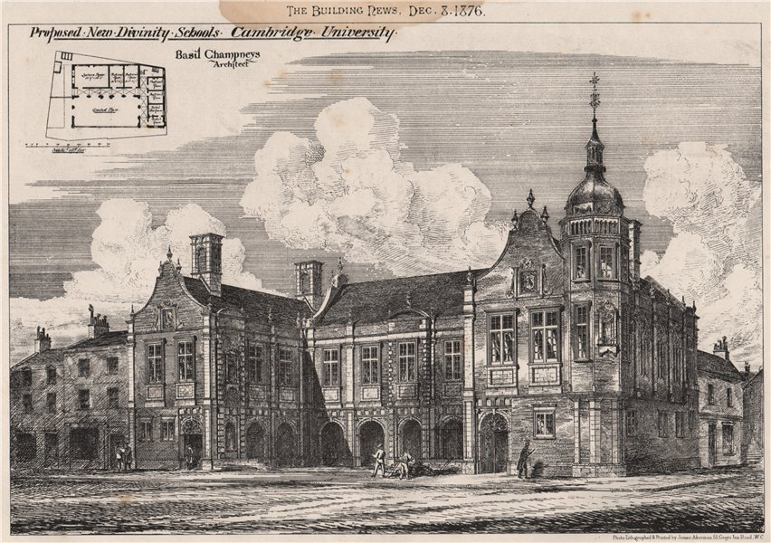 Associate Product Proposed new divinity schools, Cambridge University; Basil Champneys Archt 1876