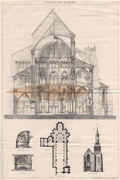 Associate Product Église de Montier-en-Der. Haute-Marne 1876 old antique vintage print picture
