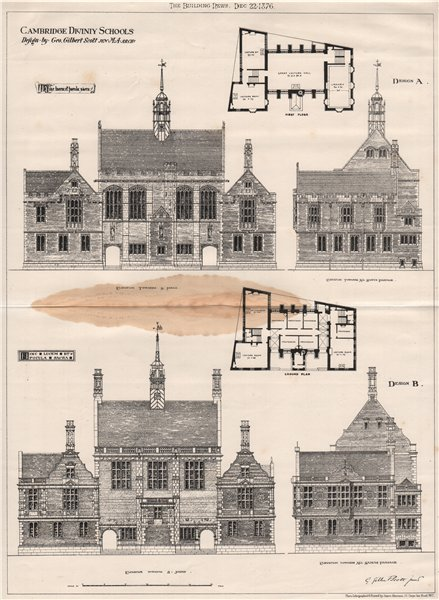 Associate Product Cambridge Divinity Schools; design by Geo. Gilbert Scott Jr M.A. Architect 1876