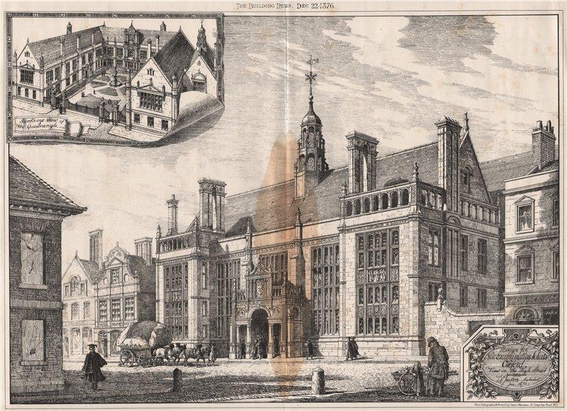 Associate Product New Examination Schools, Oxford. High street view; JG Jackson Architect 1876