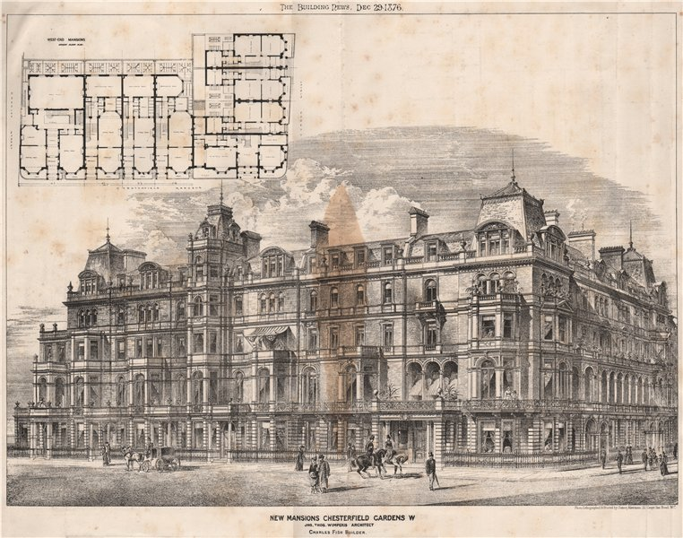 Associate Product New Mansions, Chesterfield Gardens; W. Jno. Thos, Wimperis Architect 1876