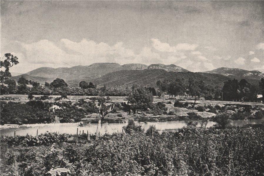 Associate Product The Buffalo Mountains from Porepunkah. Victoria, Australia. 1908 old print