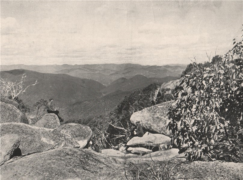 Associate Product Buffalo Mountains. View from top of Dickson's Falls. Victoria, Australia. 1908
