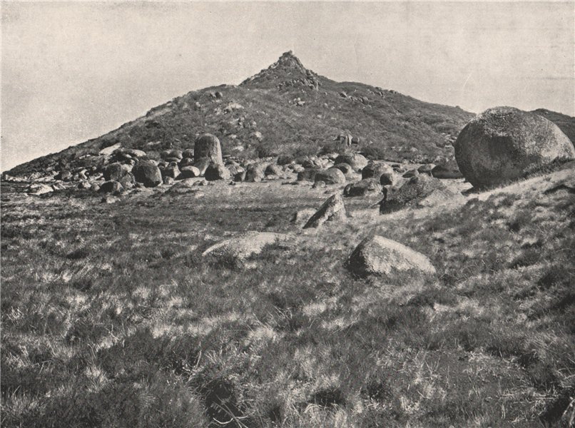Associate Product Buffalo Mountains. The Horn looking West. Victoria, Australia. 1908 old print