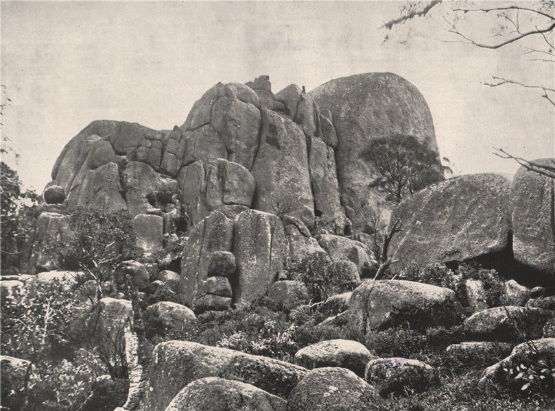 Associate Product Buffalo Mountains. Eagle Point. Victoria, Australia. 1908 old antique print