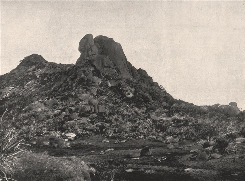 Buffalo Mountains. The Cathedral looking South. Victoria, Australia. 1908
