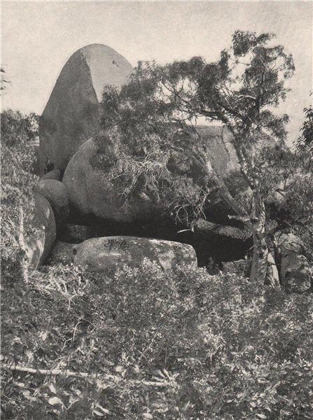 Associate Product Buffalo Mountains. Group of Tors. Victoria, Australia. 1908 old antique print