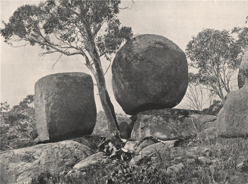 Associate Product Buffalo Mountains. The Biscuit and Cheese. Victoria, Australia. 1908 old print
