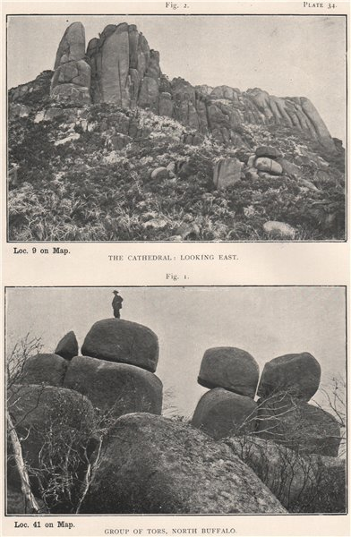 Associate Product The Cathedral. Group of Tors, North Buffalo. Victoria, Australia 1908 print