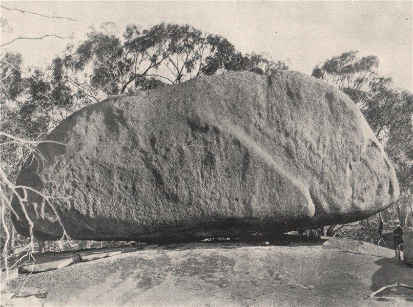 Associate Product Buffalo Mountains. The Pigeon-Hole Rock. Victoria, Australia. 1908 old print