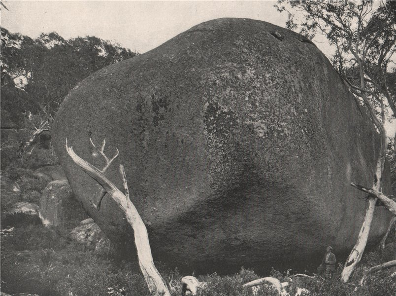 Associate Product Buffalo Mountains. The Pebble. Victoria, Australia. 1908 old antique print