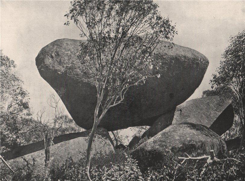 Associate Product Buffalo Mountains. The Bridge of Sighs. Victoria, Australia. 1908 old print