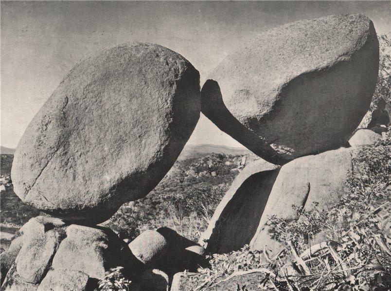 Associate Product Buffalo Mountains. The Kissing Stones. Victoria, Australia. 1908 old print