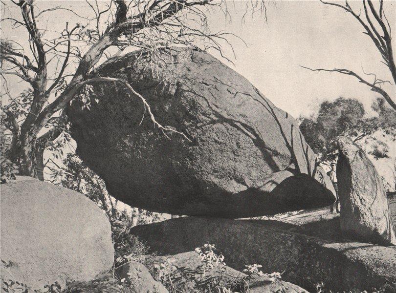 Associate Product Buffalo Mountains. The Mussel Rock. Victoria, Australia. 1908 old print