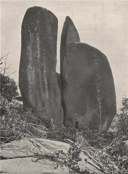 Associate Product Buffalo Mountains. The Riven Rock. Victoria, Australia. 1908 old antique print