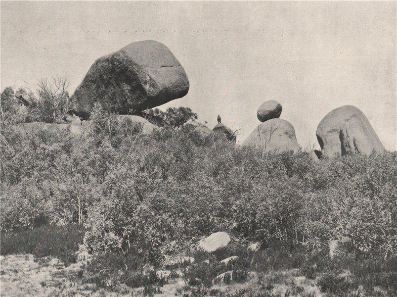 Associate Product Buffalo Mountains. The Whale Rock. Victoria, Australia. 1908 old antique print