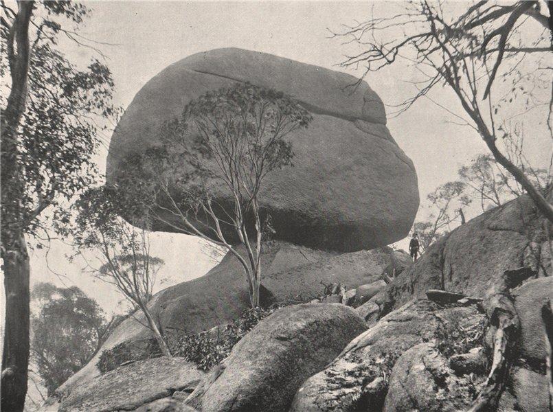 Associate Product Buffalo Mountains. The Sarcophagus. Victoria, Australia. 1908 old print