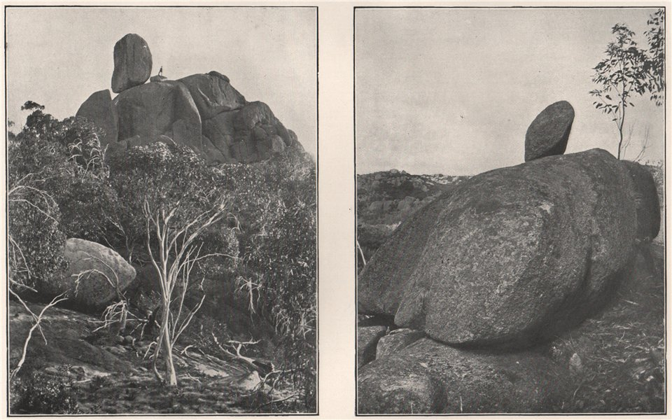 Associate Product Buffalo Mountains. The Monolith; The Logan Stone. Victoria, Australia. 1908